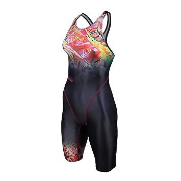 f8ff09cf1dbe88 ZAOSU Damen & Mädchen Wettkampf-Schwimmanzug Z-Peace | Sport Badeanzug mit  Bein,