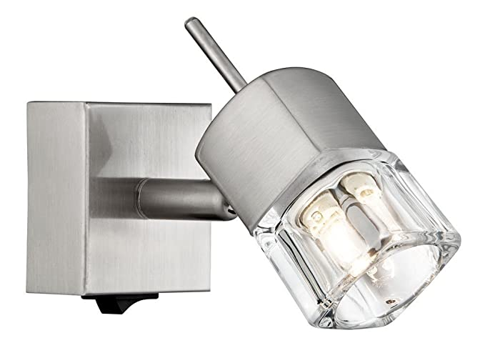 Haysom interiors compact switched wall light with ice cube shade haysom interiors compact switched wall light with ice cube shade steel satin chrome aloadofball Gallery