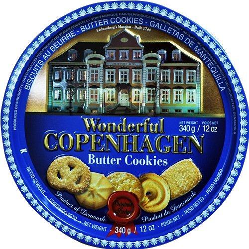 Wonderful Copenhaggen Danish Butter Cookies 5 Biscuit Designs