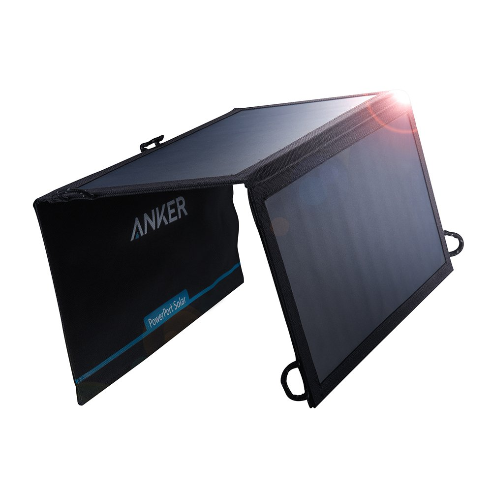 Anker 15W Dual USB Solar Charger, PowerPort Solar for iPhone 7 / 6s / Plus, iPad Pro / Air 2 / mini, Galaxy S7 / S6 / Edge / Plus, Note 5 / 4, LG, Nexus, HTC and More by Anker