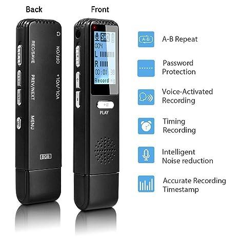 LNLJ Grabadora activada por Voz - Unidad Flash USB, 8GB ...