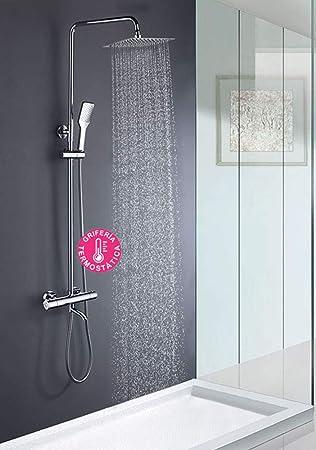 Columna de ducha con tubo redondo extensible de 80 a 120 cm. CON ...