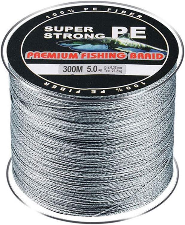cuerda de pesca multifilamento de polietileno 4 hebras resistencia a la abrasi/ón 300 m L/íneas de pesca trenzadas s/úper fuerte