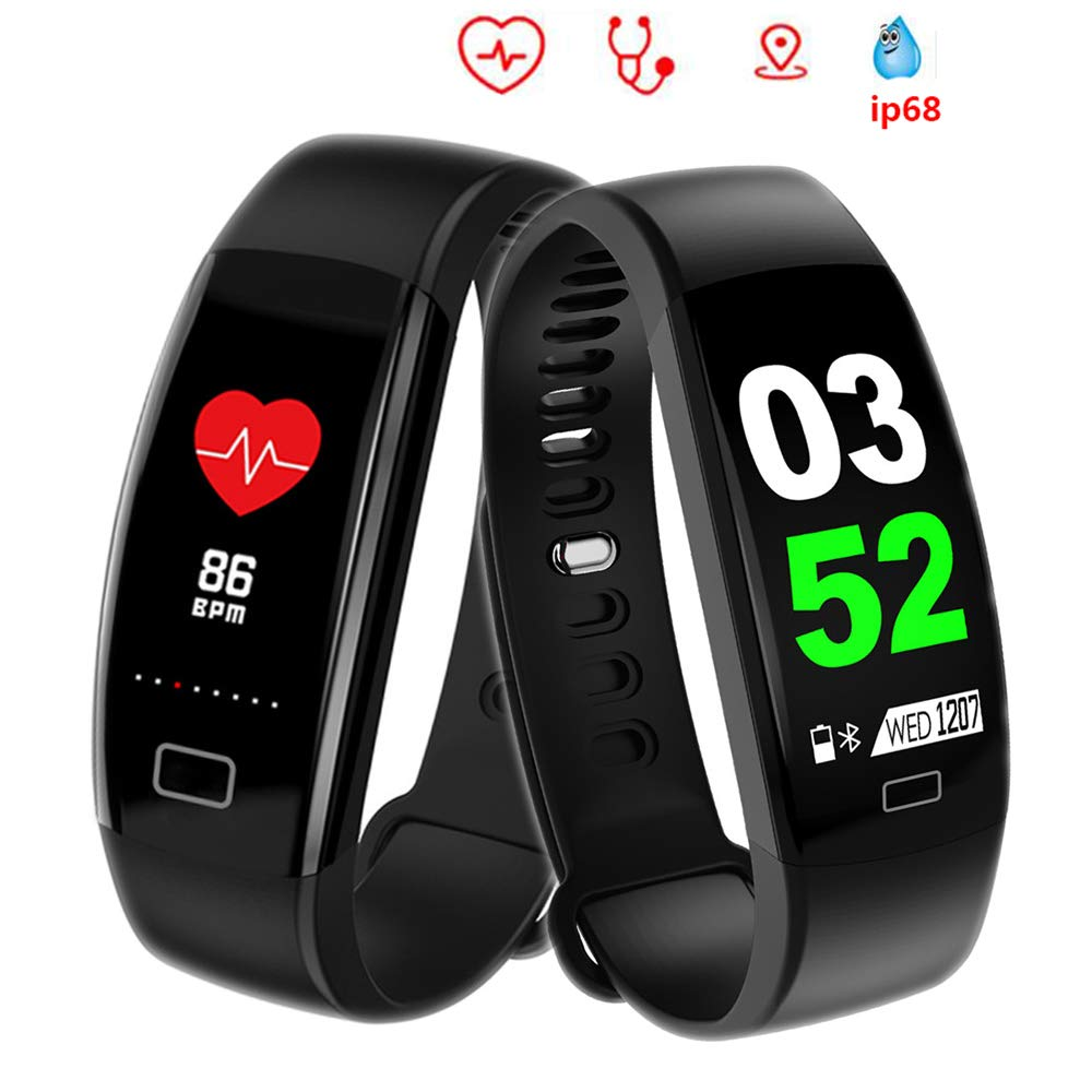 Amazon.com: BOND F64 HR Smart Bracelet Band Heart Rate Monitor Anti-Lost Wristband Call Remind Fitness Tracker Step Counter Alarm Clock for iPhoneXS Max ...