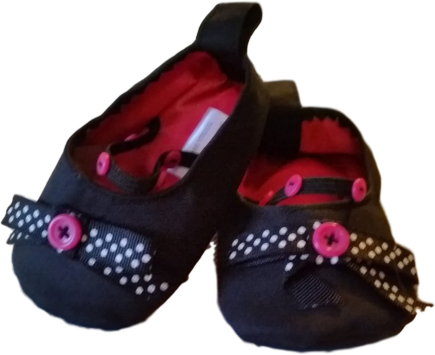 Mud Pie Baby HRH Black Ballerina Shoes