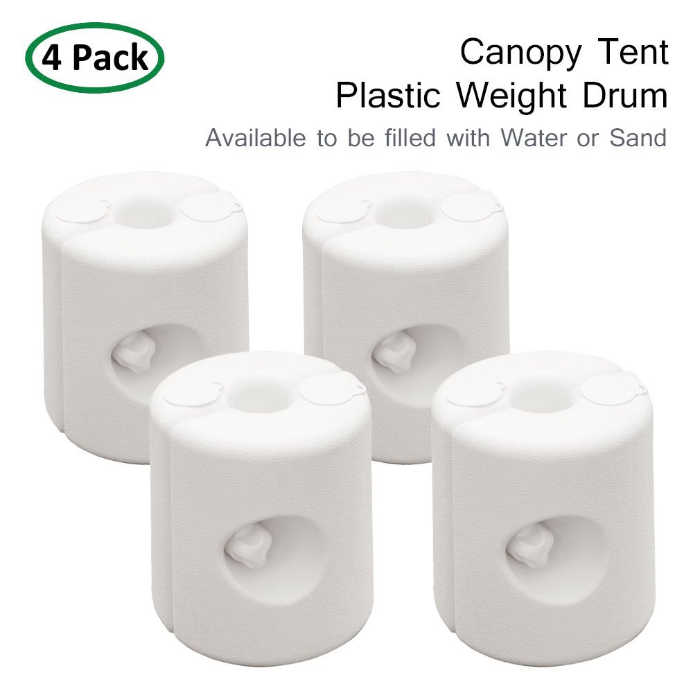 Special Strong Lock Set of 4 PARTYSAVING APL1298 60/% Moving Outdoors Gazebo Tent Weight Feet Drum Fill with Water or Sand White
