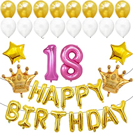 Image Unavailable Not Available For Color BESTOYARD 18th Birthday Balloons Decorations Party Supplies