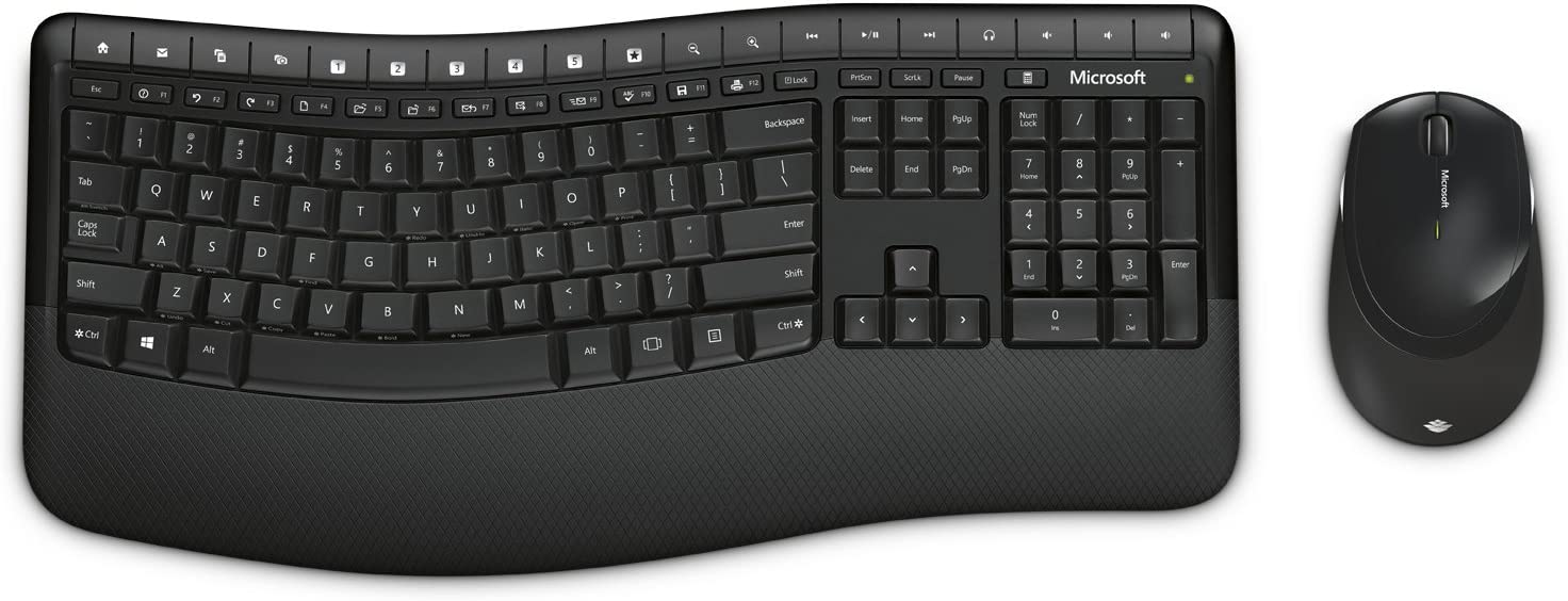 Microsoft Wireless Comfort Desktop 5050 with AES - Keyboard and Mouse