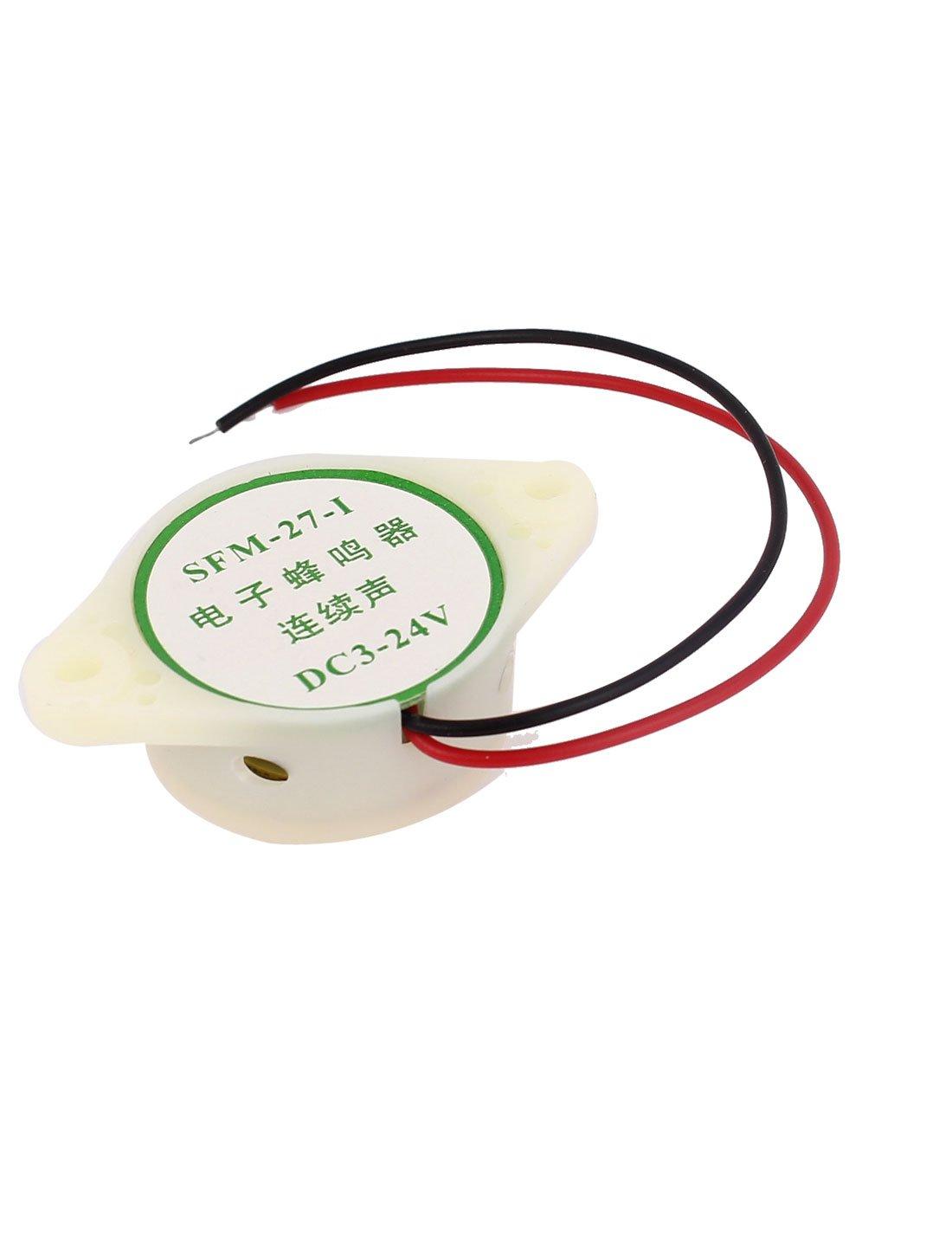 DC3V-24V 2-C/âble Miniature Son Buzzer /électronique Alarme avertisseur sonore Bip