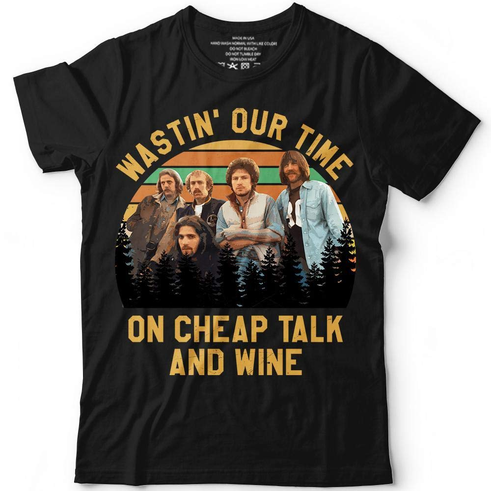 Vintage-Retro-Eagles Wastin-Our-Time-On-Cheap-Talk-And-Wine Customized Handmade T-shirt Hoodie//Sweater//Long Sleeve//Tank Top//Premium T-shirt