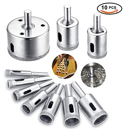 Diamond Drill Bit Hole Saw Drill Bits Tools Set For GlassTile - Cutting holes in tile for plumbing