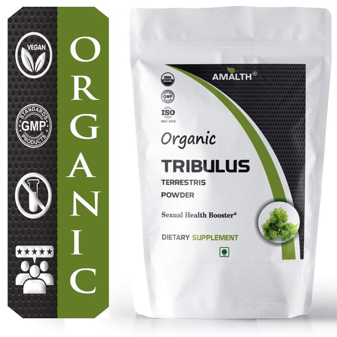 AMALTH USDA Certified Organic Tribulus Terrestris Powder 2.2 lb / 1kg for Strong Body