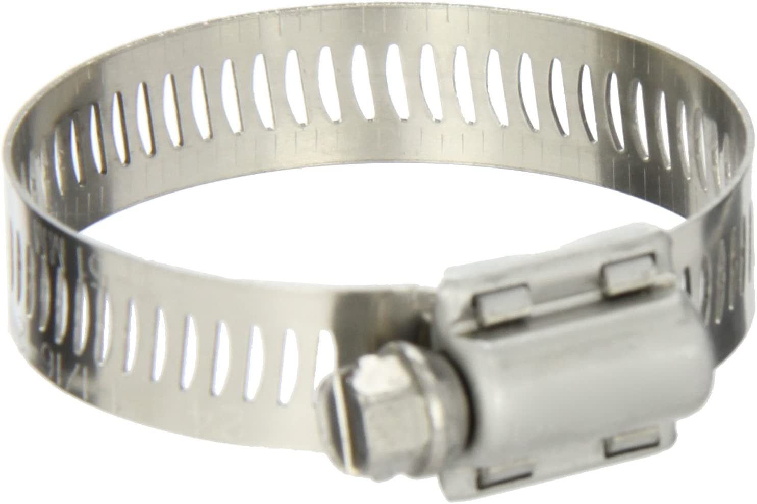 Pack of 10 Worm-Drive SAE Size 8 Breeze Power-Seal Stainless Steel Hose Clamp 1//2 to 29//32 Diameter Range 1//2 Bandwidth