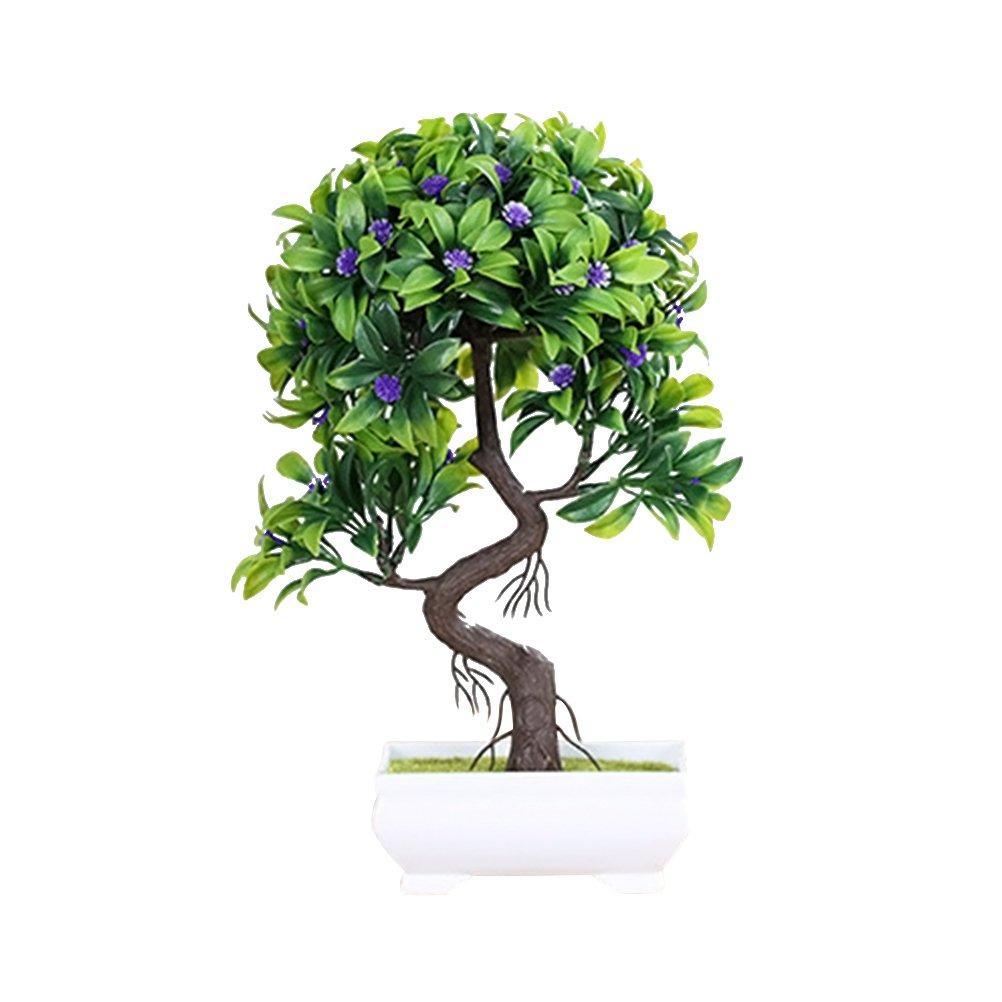 VORCOOL Artificial Green Plants in Pots for Home Garden Decoration (Random Color)