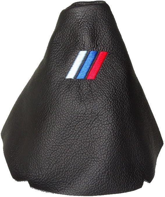 F/ür BMW 5/Serie E60/E61/2003 10/Schaltsack schwarz Leder MPOWER Logo Stickerei