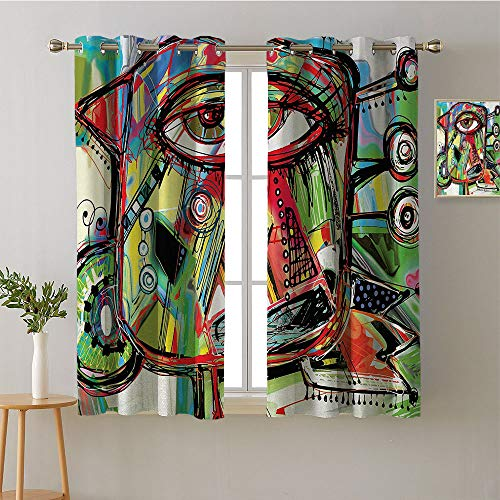 Suchashome Curtain for Bathroom Grommets Insulating Darkening Curtains Design Darkening Curtains Style Darkening Curtains Bedroom/Living (1 Pair, 52