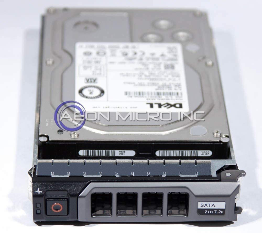 "Dell - 2 TB 7200 RPM Enterprise SATA 3.5"" Hard Drive for PowerEdge / PowerVault Systems. Equipped with tray. Mfr P/N: 2G4HM (Renewed)"