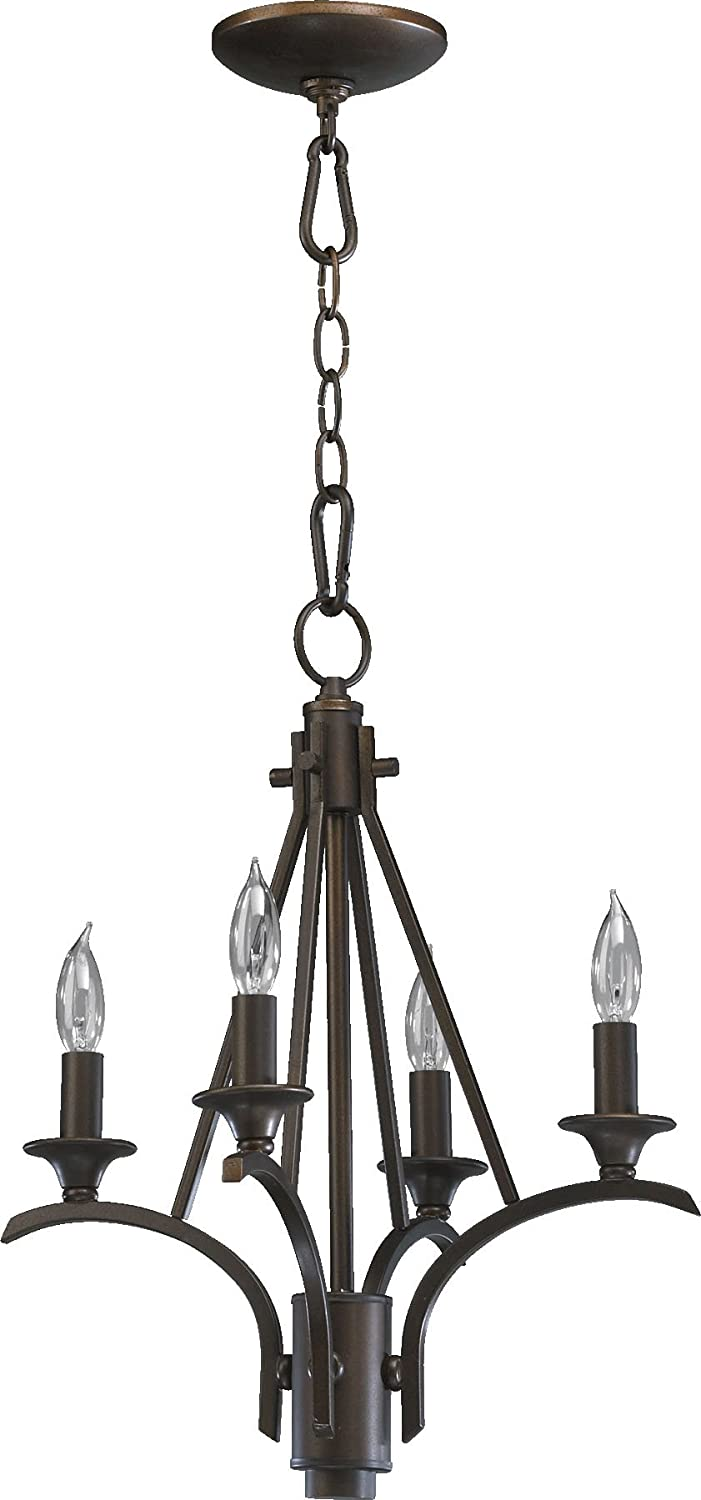 Quorum lighting 6029 4 86 winslet ii 1 tier chandelier lighting 4lt 80 watts oiled bronze amazon com