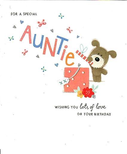 Lots Of Woof - Tarjeta de felicitación para una tía especial ...