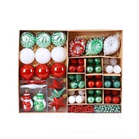 Bola de Navidad Tamaño Pendiente plástico Multi-Color ...