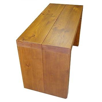 Bois Massif Table Console Extensible 3 Rallonges Merisier Stock