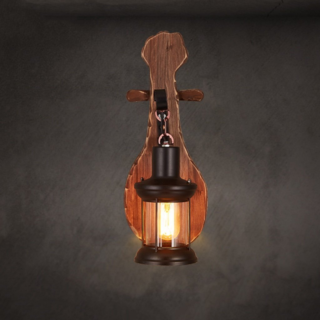 MOMO Wall Lamp Single Head Industrial Vintage Retro Wooden Metal Painting Color Wall Lamp for the Home / Hotel / Corridor Decorate Wall Light