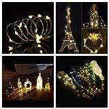 6PCS Cork Lights Copper Lights 2M 20 LED Warm White
