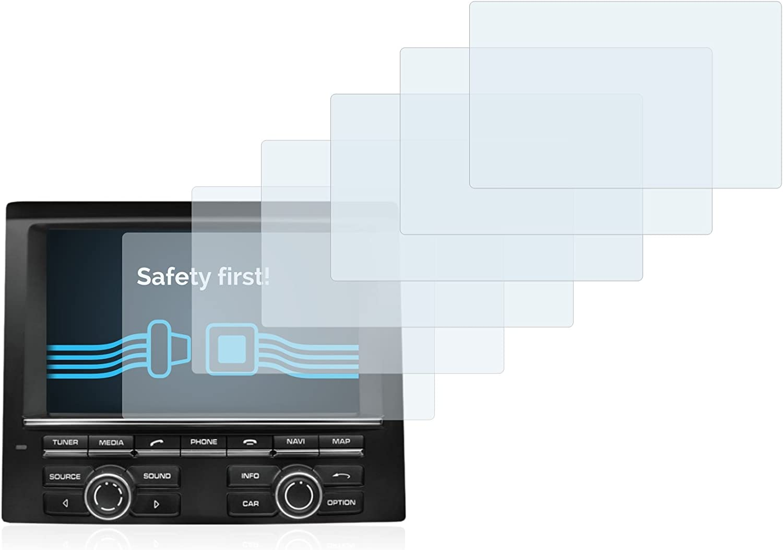 savvies 6-Pezzi Pellicola Protettiva Compatibile con Porsche PCM Macan 2015 Protezione Schermo Trasparente