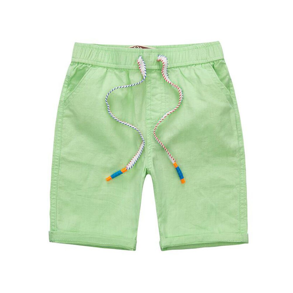 Meijunter Korean Boys Kids Child Casual Soft Linen Cotton Anti-wrinkle Shorts Summer Pants Junsi