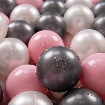 Conjunto de bolas pelotas para piscina infantil 150 piezas Colores de bolas: rosa O 7cm