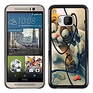 Paccase / SLIM PC / Aliminium Casa Carcasa Funda Case Cover - Funny Funny Cat - HTC One M9