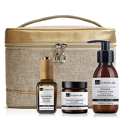 Dr Botanicals Bag Set Cleanse and Tone, Ultra Hydrating F...