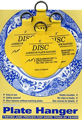 Flatirons Disc Adhesive Medium Plate Hanger Set (4 - 3 Inch - Co Flatiron