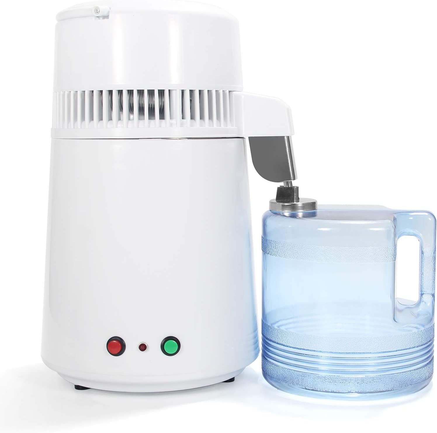 Hanchen 4L/1gal Water Distillers Pure Water Distiller Machine 750W Countertop Water Purifier Floral Water Pure Water Maker for Home Use(110v)