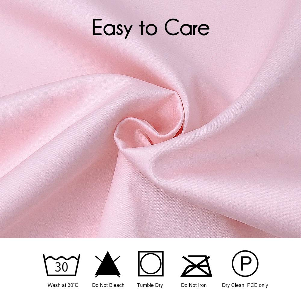 2 Pack Pink Leaf Soft Cotton Toddler Pillowcase 14 x 20 Travel Pillow Case