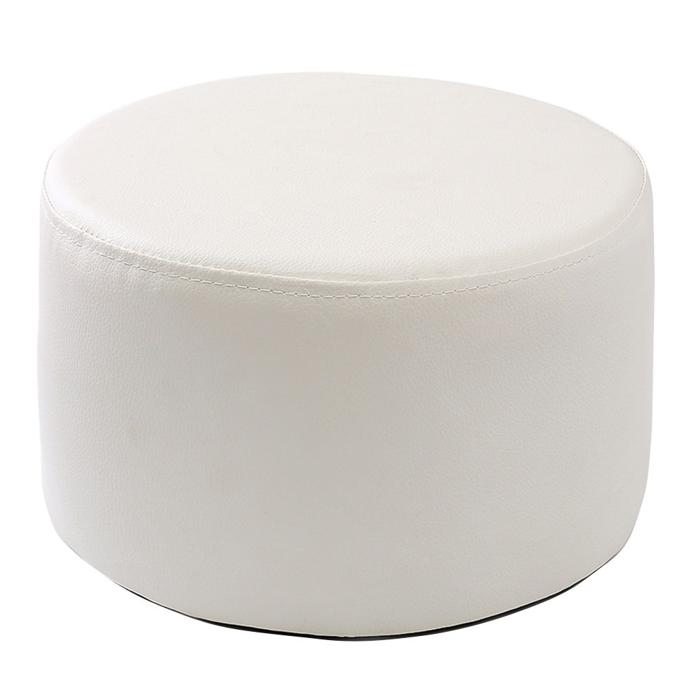 Xin-stool Fashion Stools/Sofa Stool/Coffee Table Stool/Leather sofa stool/Multifunctional footstool/European shoe bench/low stool/Bed stool Fashion dressing stool/2715cm (Color : White)