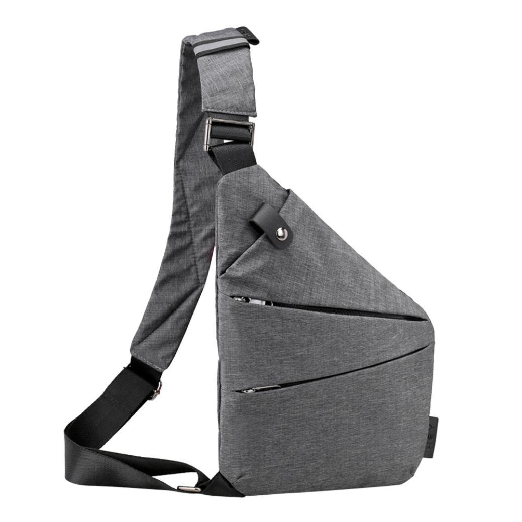 Canvas Sling Bag,Vanvler {Anti Theft Crossbody Bag} Casual Chest Bag for Men Women