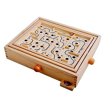 013dd02e7e4b3 Smile-Life 迷路ゲーム ぐるぐる 迷宮 ラビリンス 木製 おもちゃ バランスゲーム 知育 玩具 育児 養育