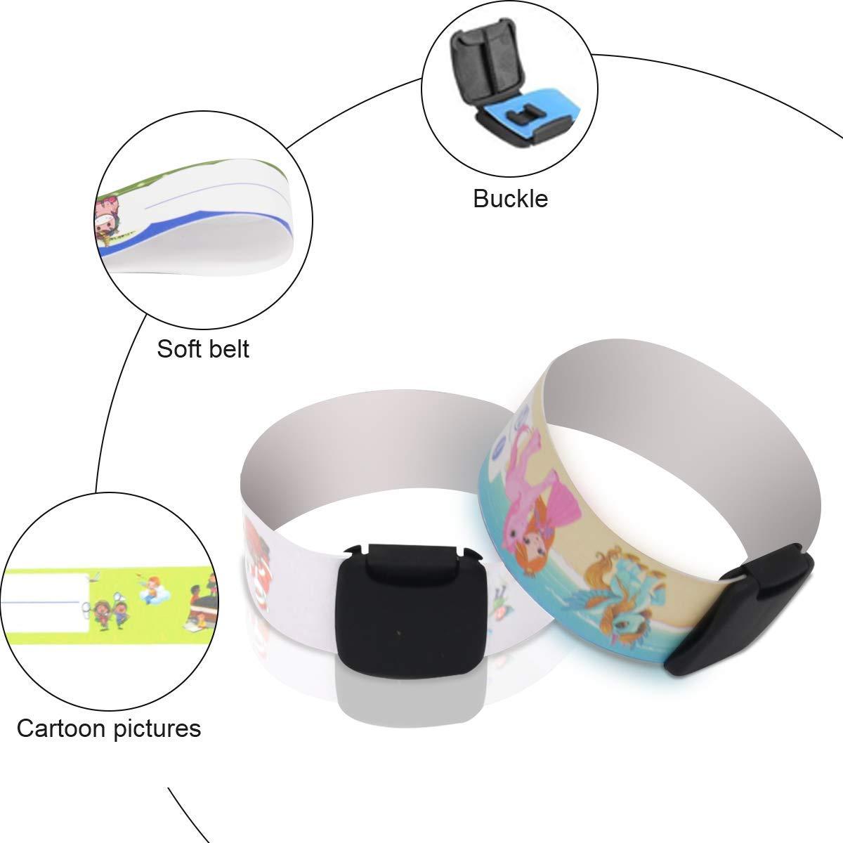 Luchild Bracelet Identification Enfant Infoband Sos Bracelet Securite ID Bracelet Imperm/éable et R/éutilisable