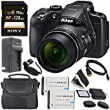 Nikon COOLPIX B700 Digital Camera 26510 + Rechargable Li-Ion Battery + Charger + Sony 128GB SDXC Memory Card + Case + Pro Hand Camera Grip + HDMI Cable + Card Reader + Memory Card Wallet Bundle