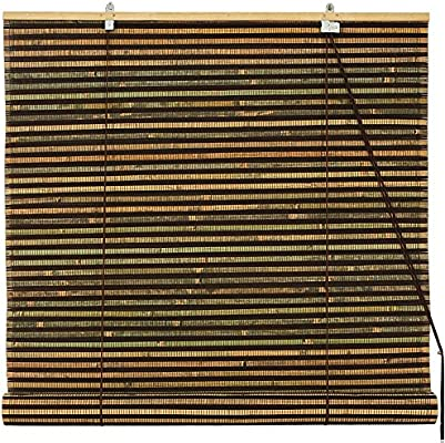 36 in. x 72 in. Red Oriental Furniture Bamboo Roll Up Blinds