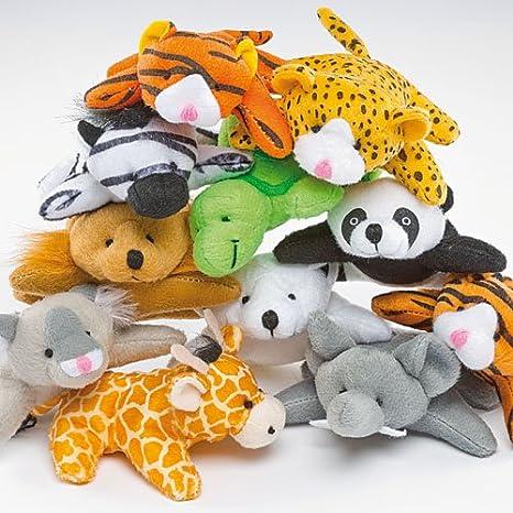 Baker Ross Animales de Peluche en Miniatura Pequeños Juguetes Relleno de Piñata Divertidos Premios y Regalos