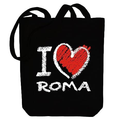 Idakoos I love Roma chalk style - Nombres Femenino - Bolsa de Lona
