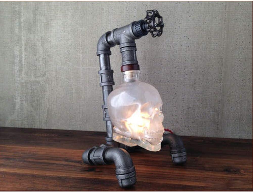 WANHAO Cr/âne Lampe de Table Vintage Industriel Tuyau deau Lampe De Bureau Steampunk Bureau Lumi/ère Halloween P/âques Loft Bar Maison Hant/ée D/écoration Table lumi/ère Lampe de Chevet