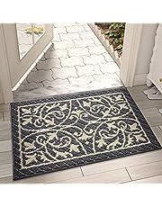 """DEXI Original Indoor Door Mat Outdoor Mat,Entrance & Outside Rug,Waterproof and Non Slip,Washable,23.5""""x35.5"""",Dark Grey"""