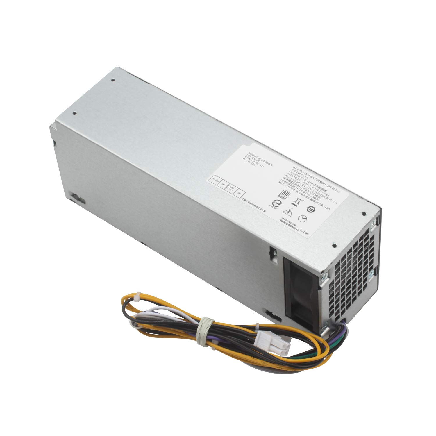MiliPow 240W Power Supply Replacement for Dell Optiplex 3040 7040 5040 3650 3656 SFF, B240NM-00 HU240AM-00 AC240EM-00, P/N: THRJK 4GTN5 H62JR D7GX8 HGRMH 2P1RD 3RK5T