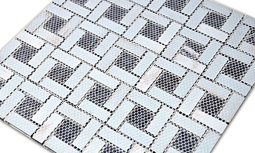 HYH 8mm Thickness Glass/Stone Blend Mesh-mounted Mosaic Tile Sheet for Kitchen Backsplash Bathroom Wall and Swimming Pool 12 In. X 12 In.(A15454-B) Lot of 5 Sheets by HYH (Image #3)
