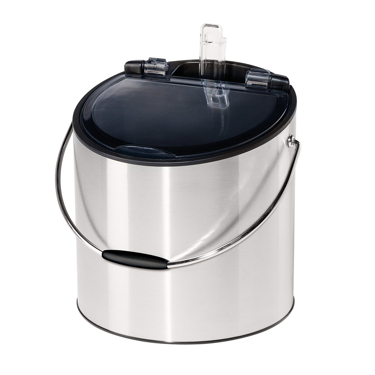 Oggi 7440 Stainless Steel Ice and Wine Bucket with Flip Top Lid and Ice Scoop, Holds 2 Bottles by Oggi