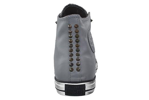 Converse Unisex Chuck Taylor Studded Hi Charcoal Gray 140011C (9.5 Men/Women 11.5) ba8bem