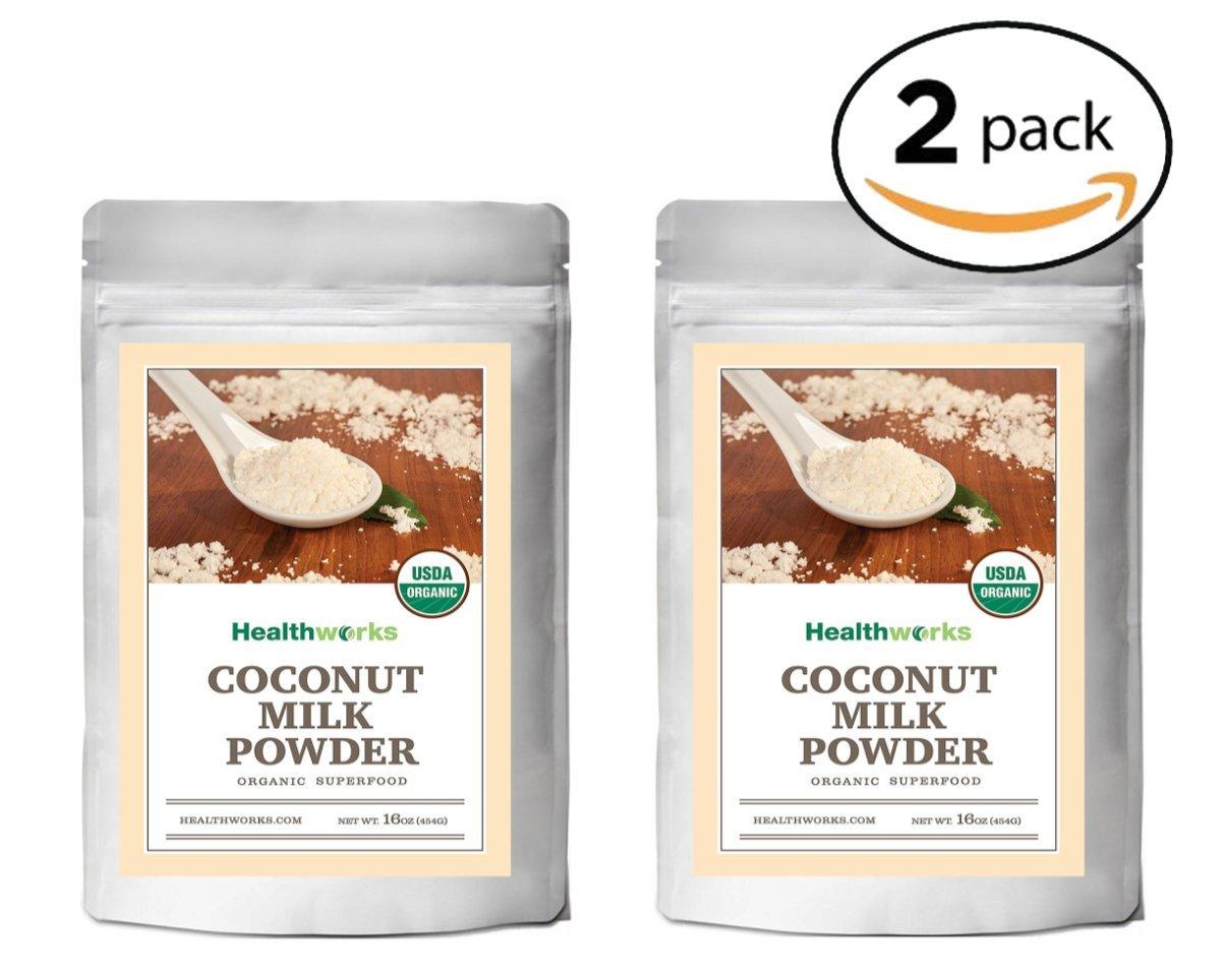 Healthworks Coconut Milk Powder Organic (Dairy Free), 2lb (2 1lb) by Healthworks